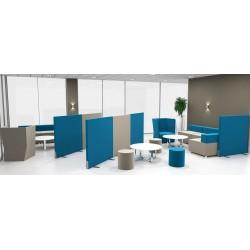 Cloison modulaire tissus - Partisound (panneau modulaire)                               500 x 1200 x 60