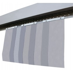 Rideau PVC cristal (laniere transparente LG 300 ep 5mm)